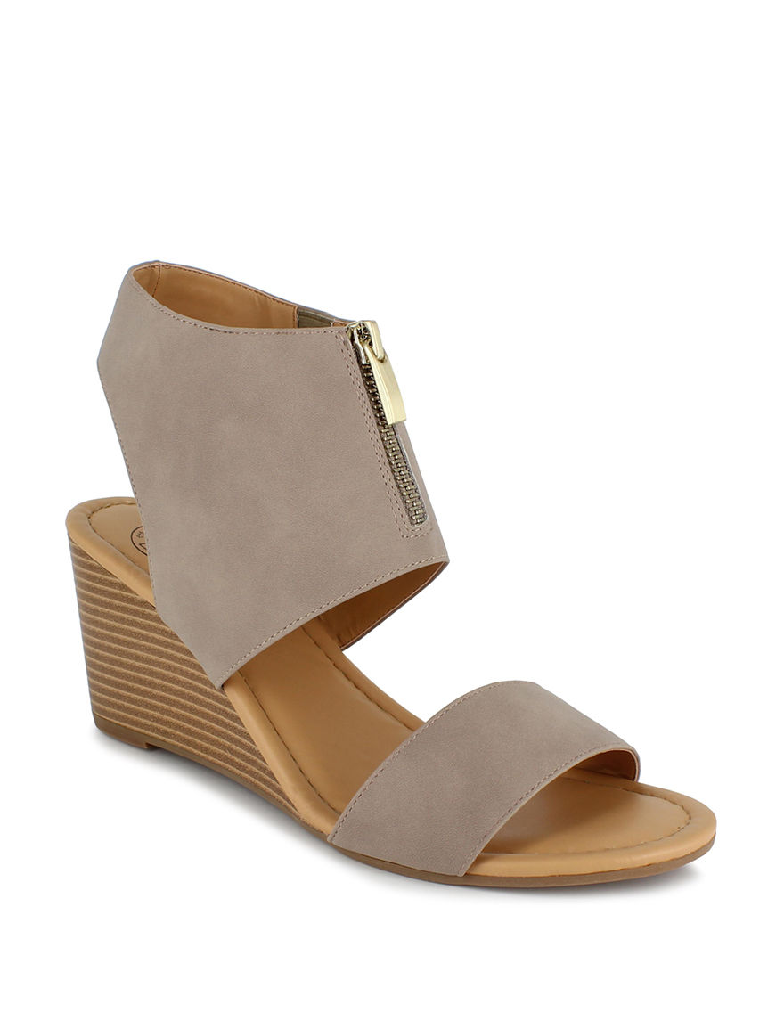 Dolce by Mojo Moxy Taupe Wedge Sandals