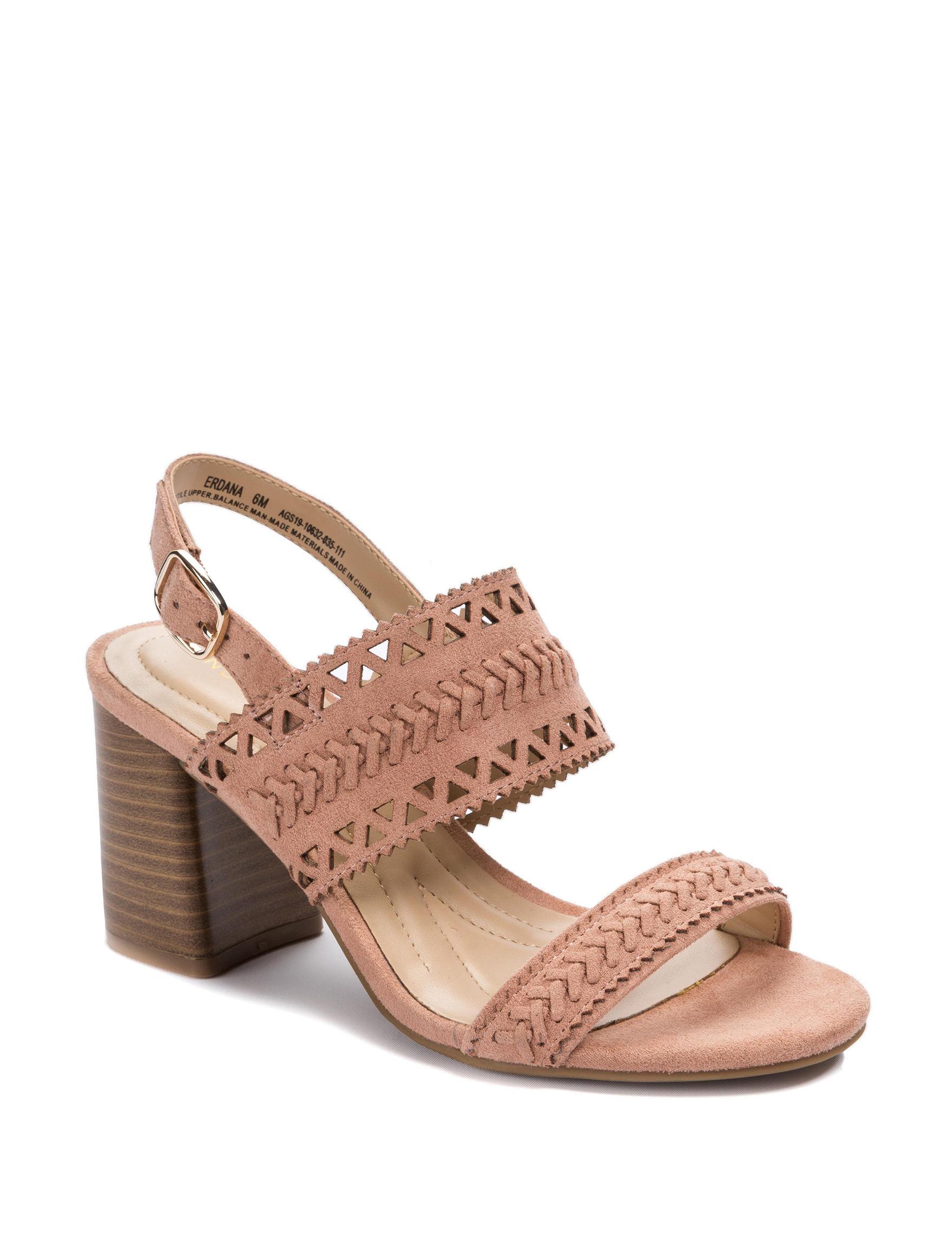 Andrew Geller Pink Heeled Sandals