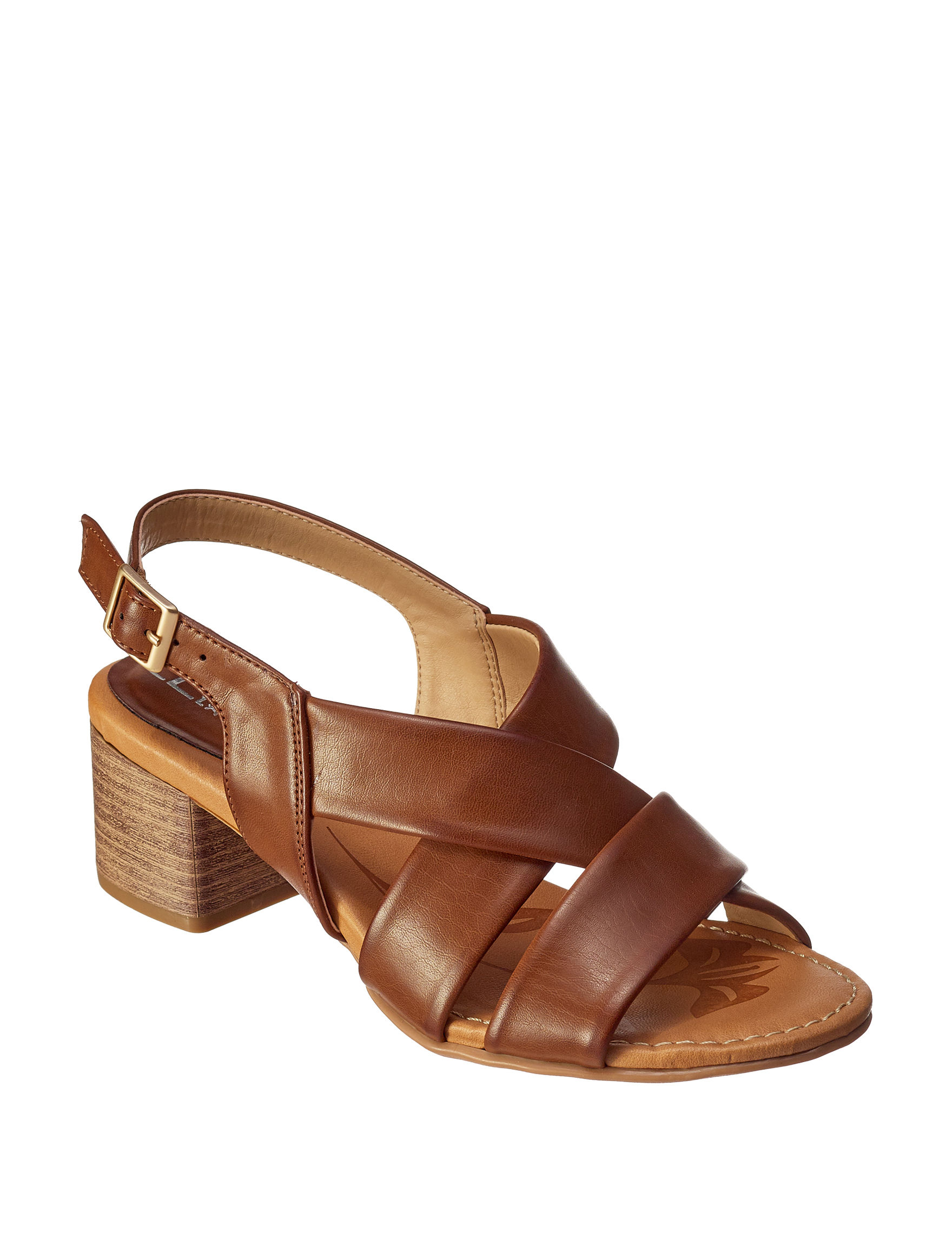 CL by Laundry Tan Heeled Sandals