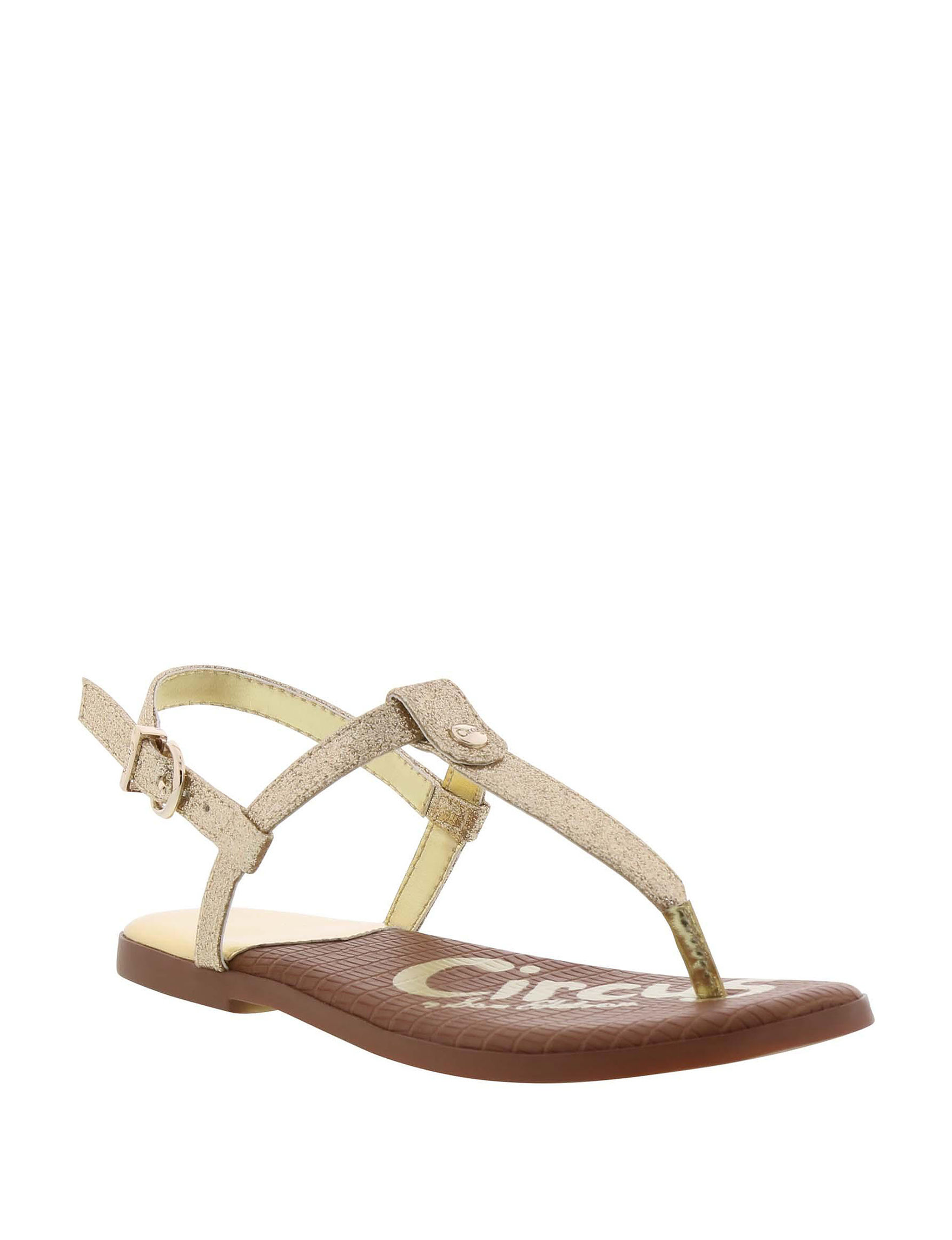 Circus By Sam Edelman Gold Flat Sandals