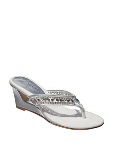 ed2fda405dc5 Doorbuster New York Transit Silver Wedge Sandals