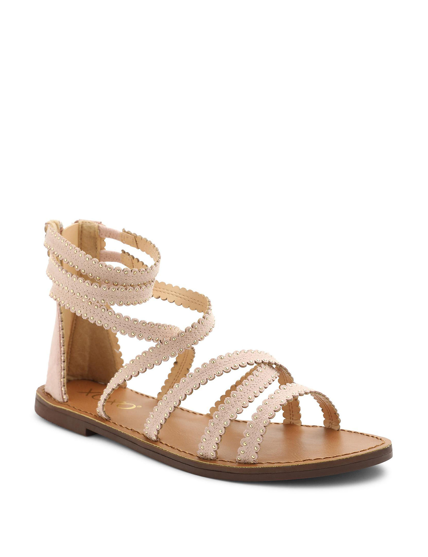 XOXO Blush Flat Sandals