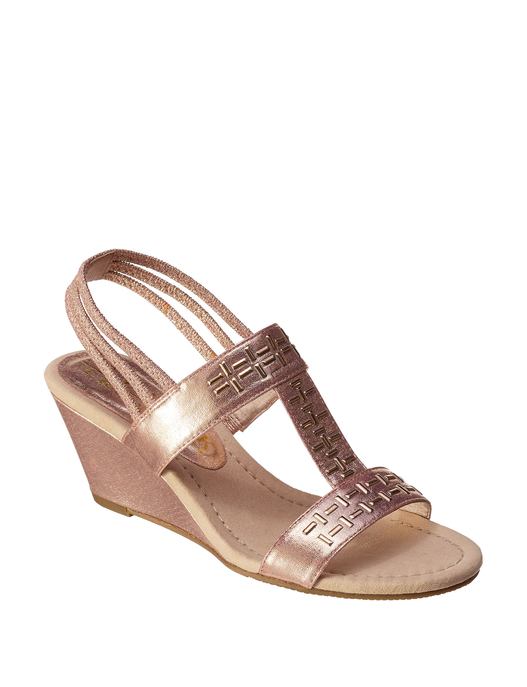 New York Transit Peach Wedge Sandals