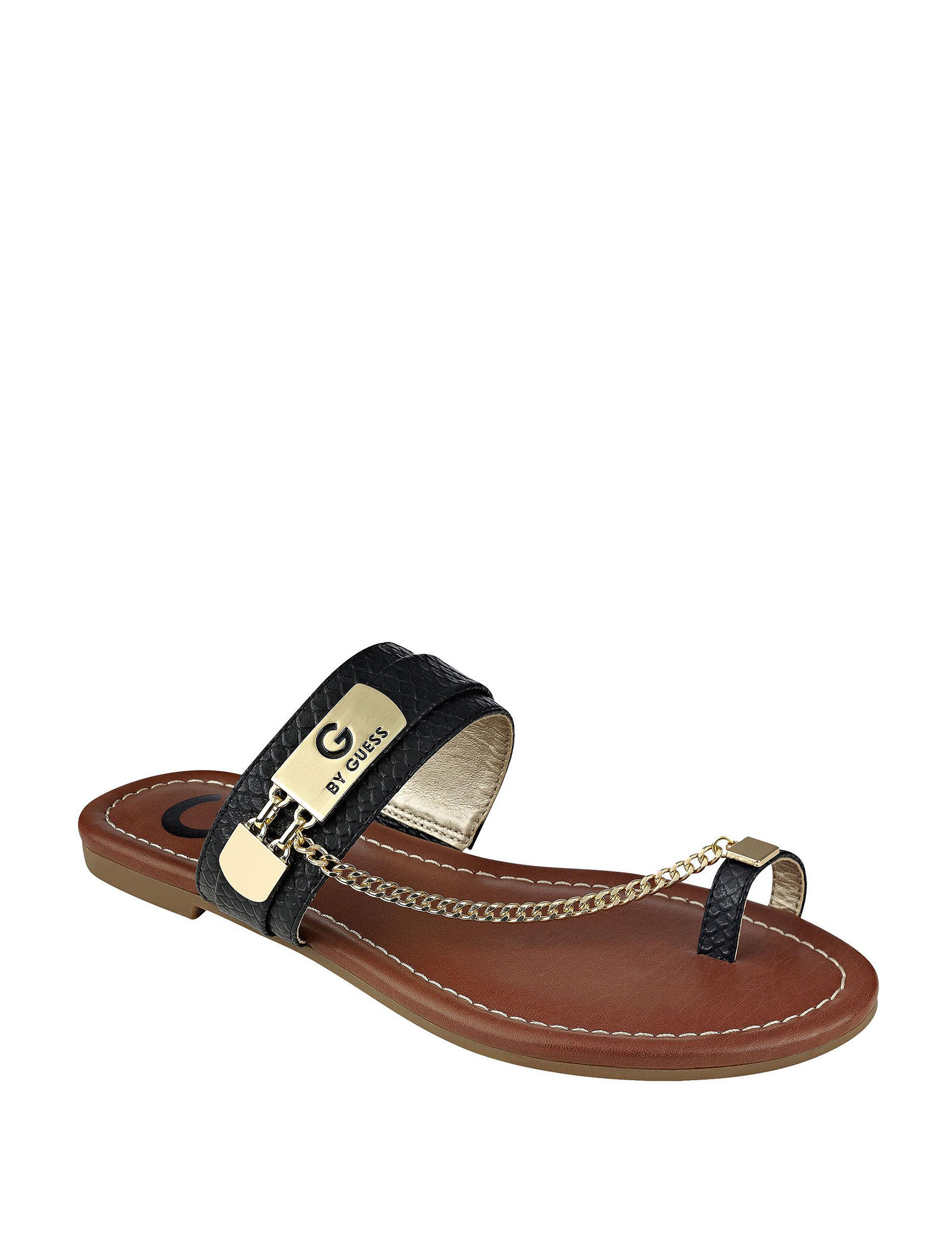G by Guess Black Flat Sandals