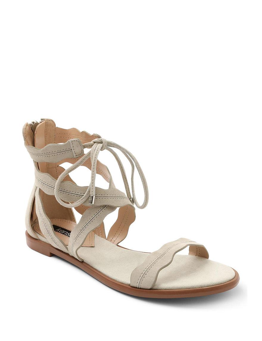 Kensie Grey Flat Sandals