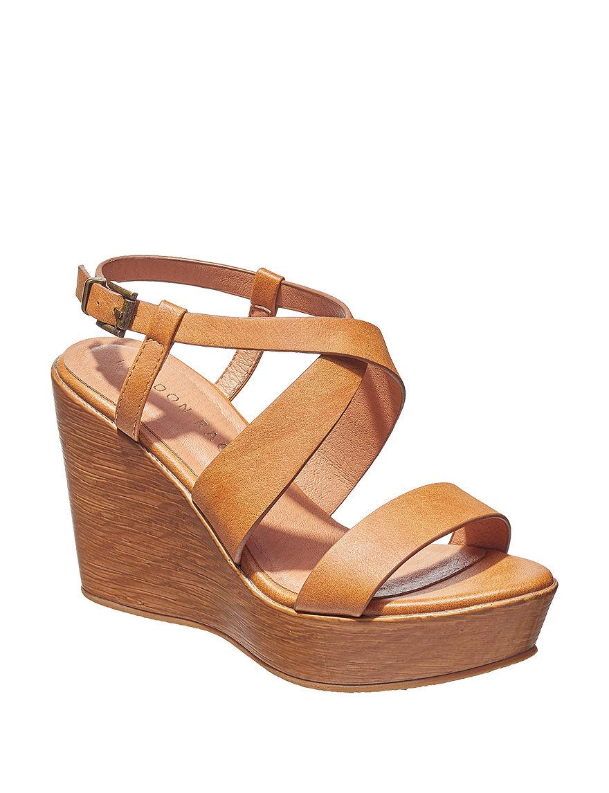 London Rag Tan Wedge Sandals
