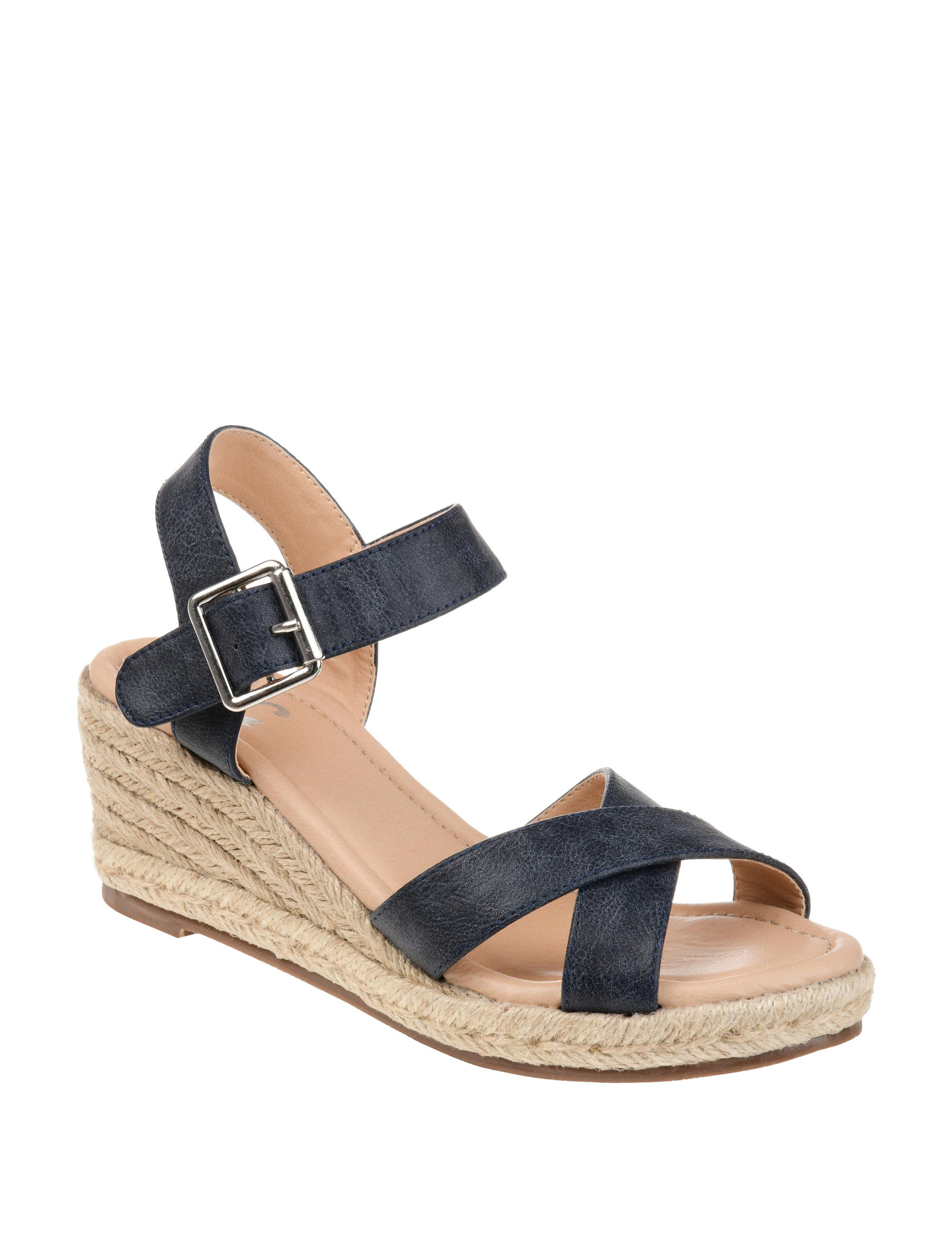 b803fb2fc687 Journee Collection Women s Dryden Comfort Espadrille Wedge Sandals