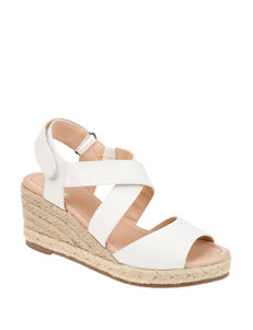 0d5f32cecce5b Journee White Espadrille Wedge Sandals