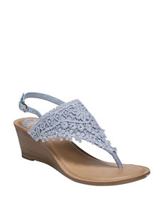e8fa1a153d3e Fergalicious by Fergie Pale Blue Wedge Sandals