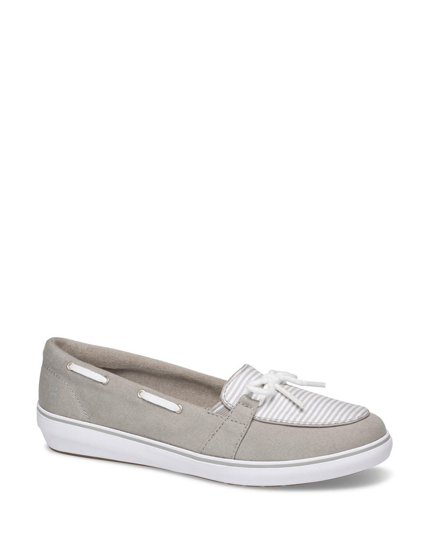 Grasshoppers Grey / White Comfort Shoes