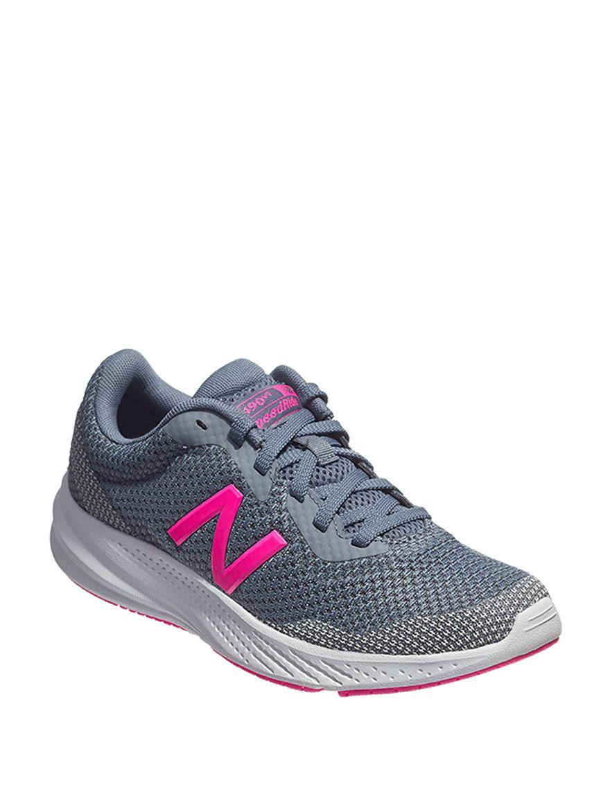 New Balance Grey / Pink Comfort Shoes
