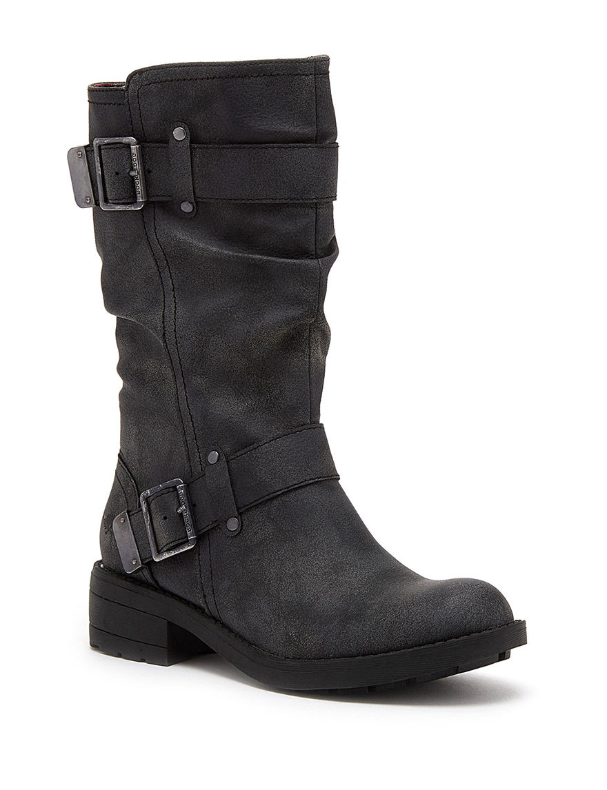 Rocket Dog Black Motorcycle Boots