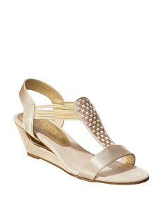 f12ab28ea New York Transit Nude Wedge Sandals