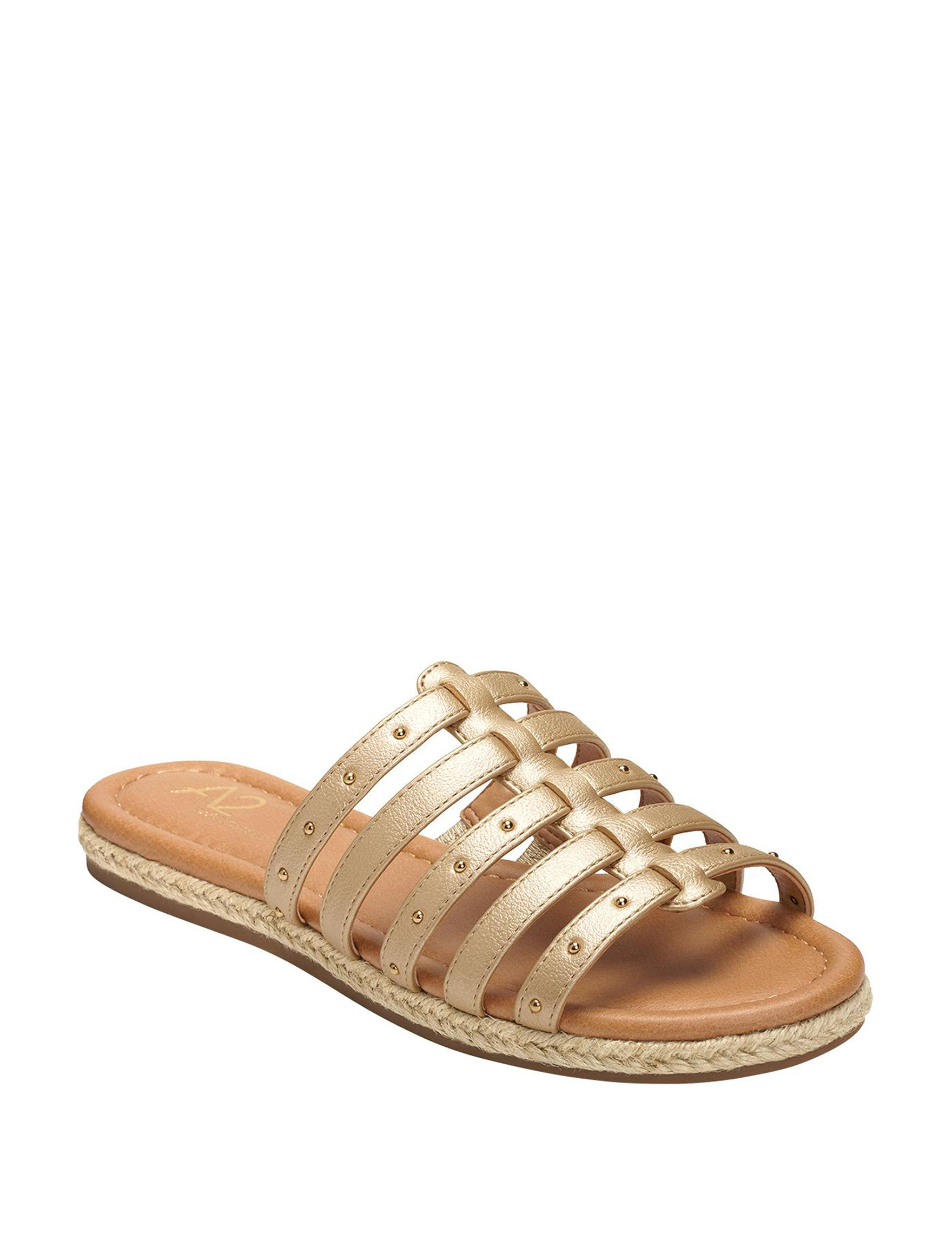 26e1f95efc49 A2 by Aerosoles Women s Drop Top Studded Jute Sandals