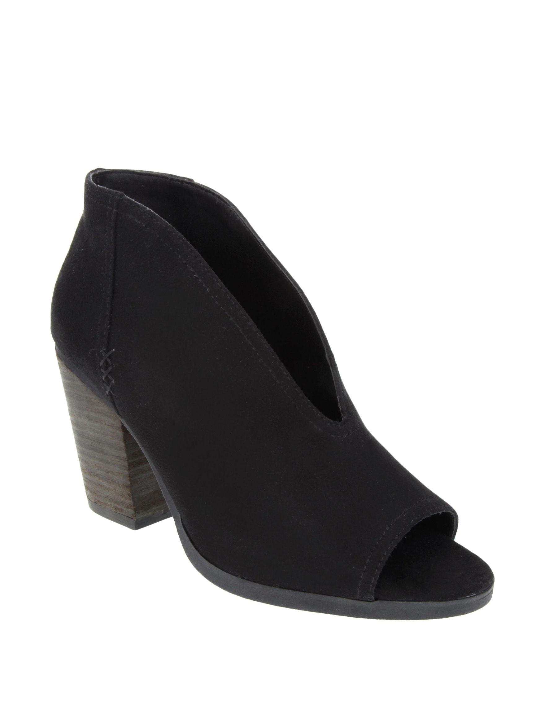 Sugar Black Ankle Boots & Booties Peep Toe