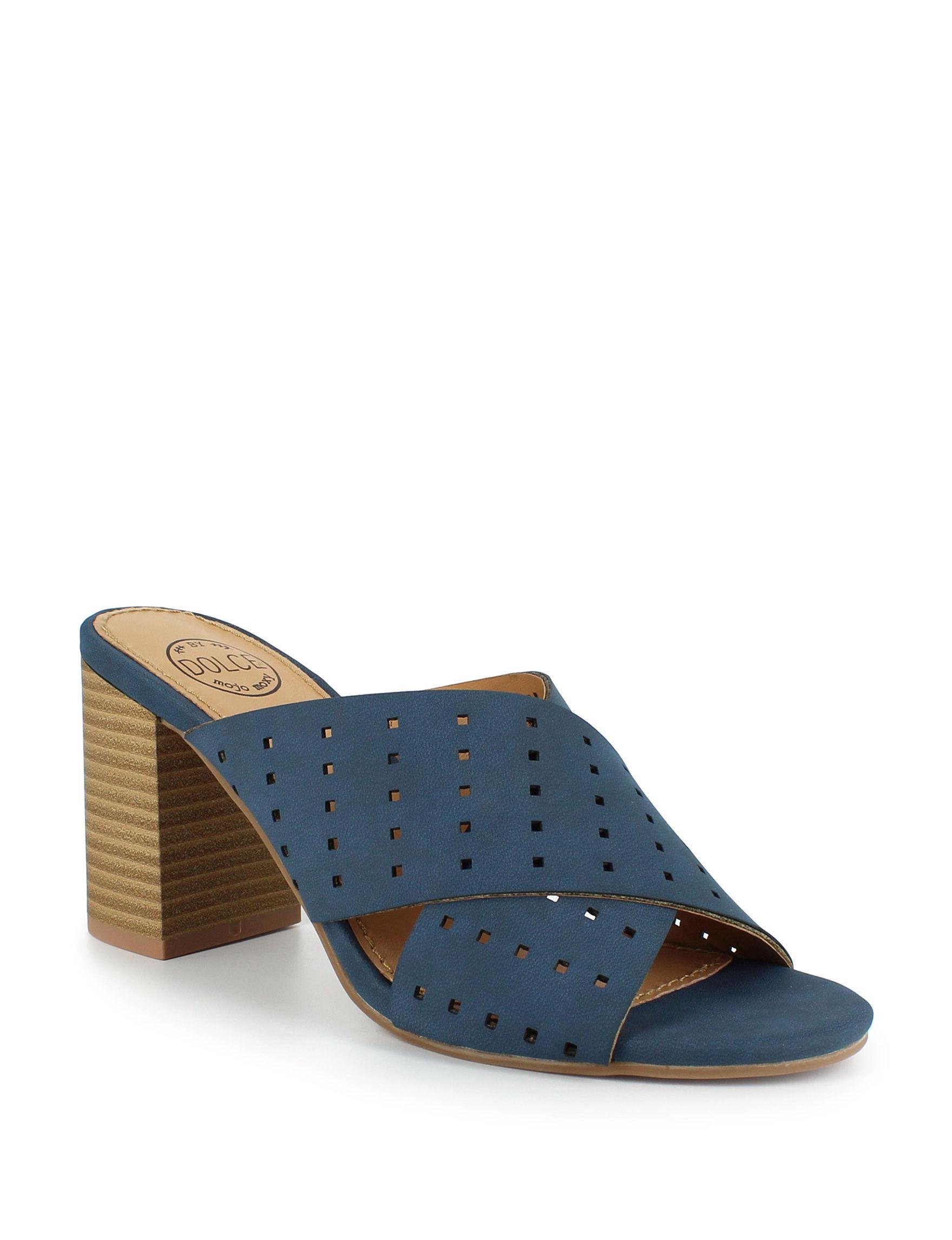 Dolce by Mojo Moxy Indigo Heeled Sandals