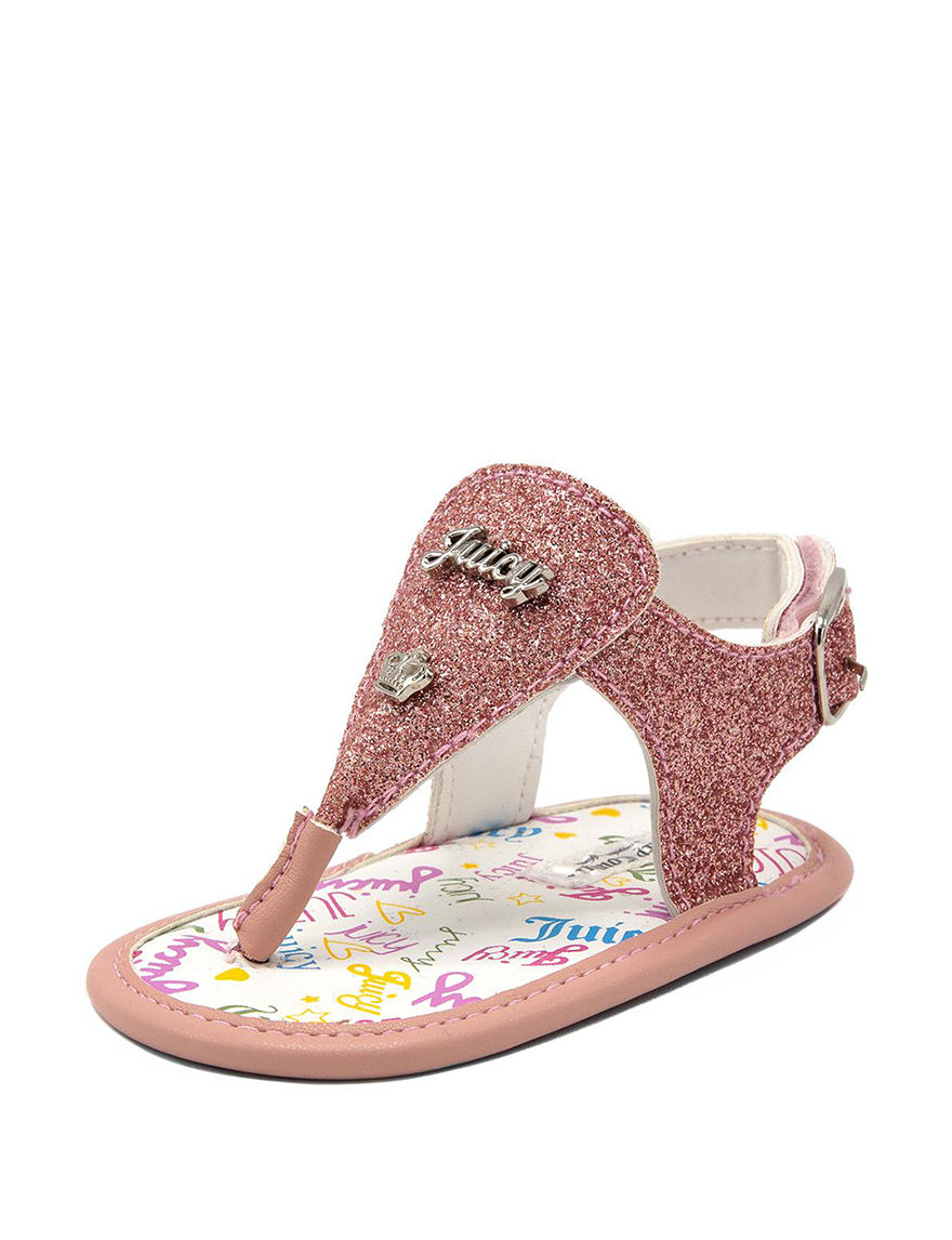 Juicy Couture Pink Flat Sandals