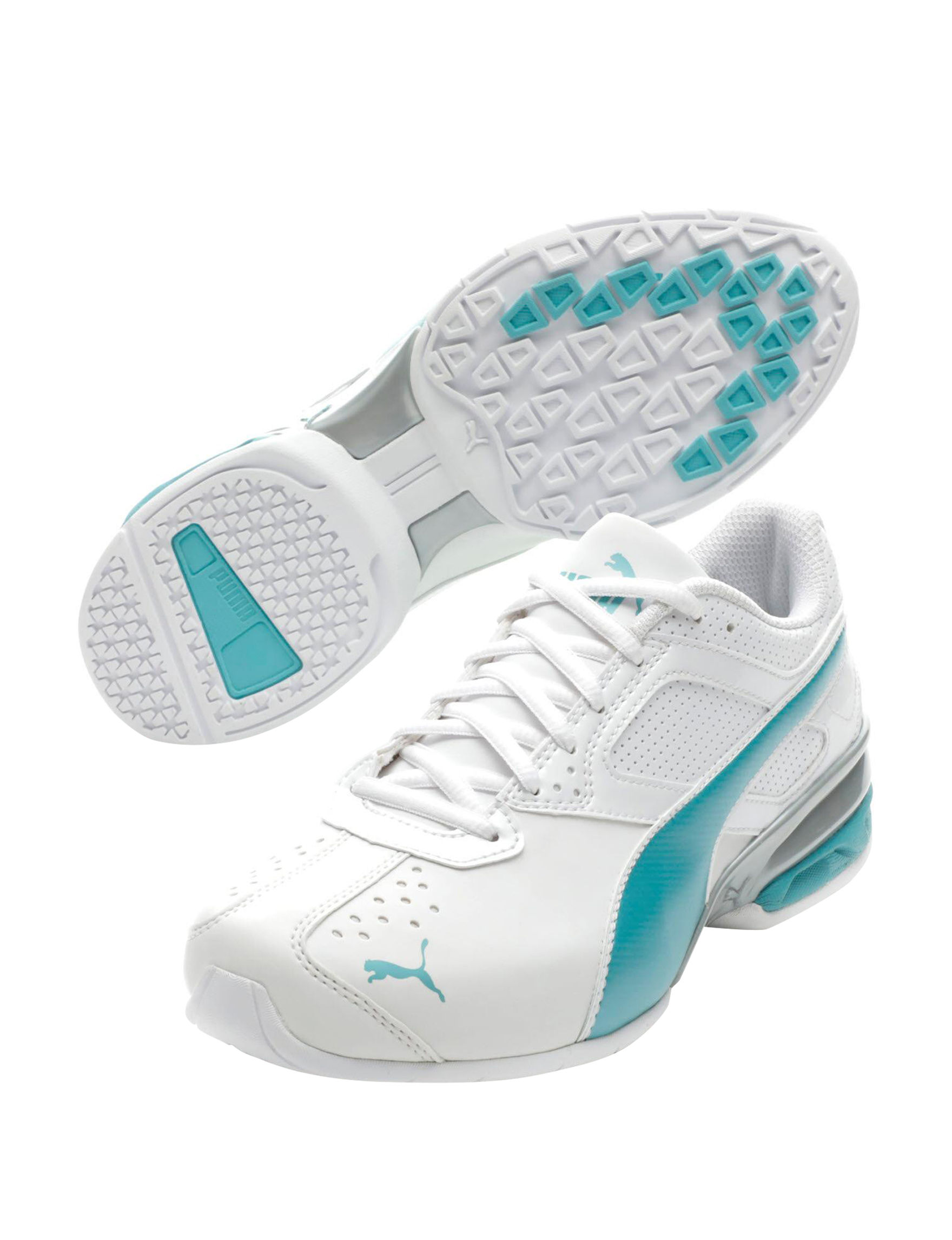Puma White / Blue Comfort Shoes
