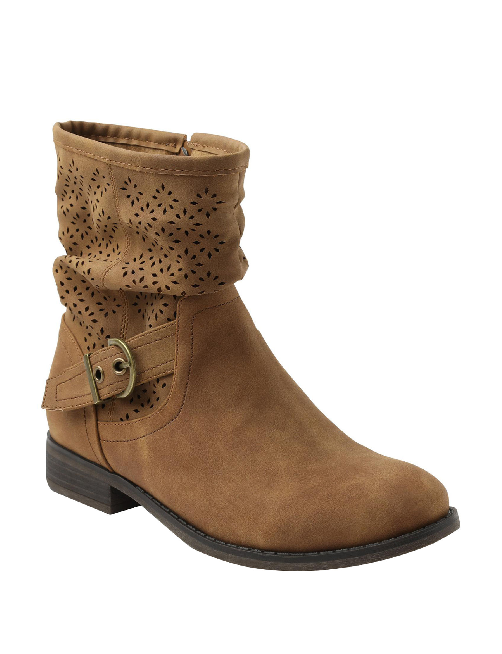 XOXO Tan Ankle Boots & Booties