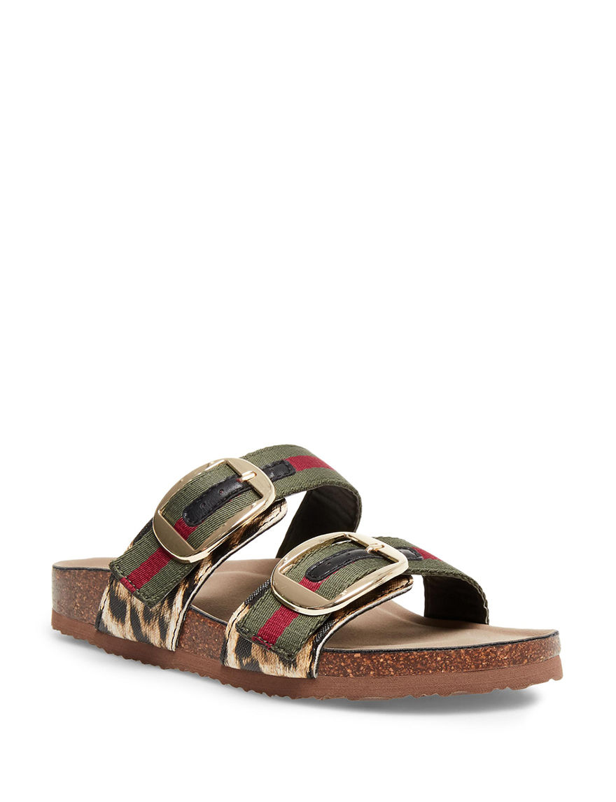 Madden Girl Green Flat Sandals