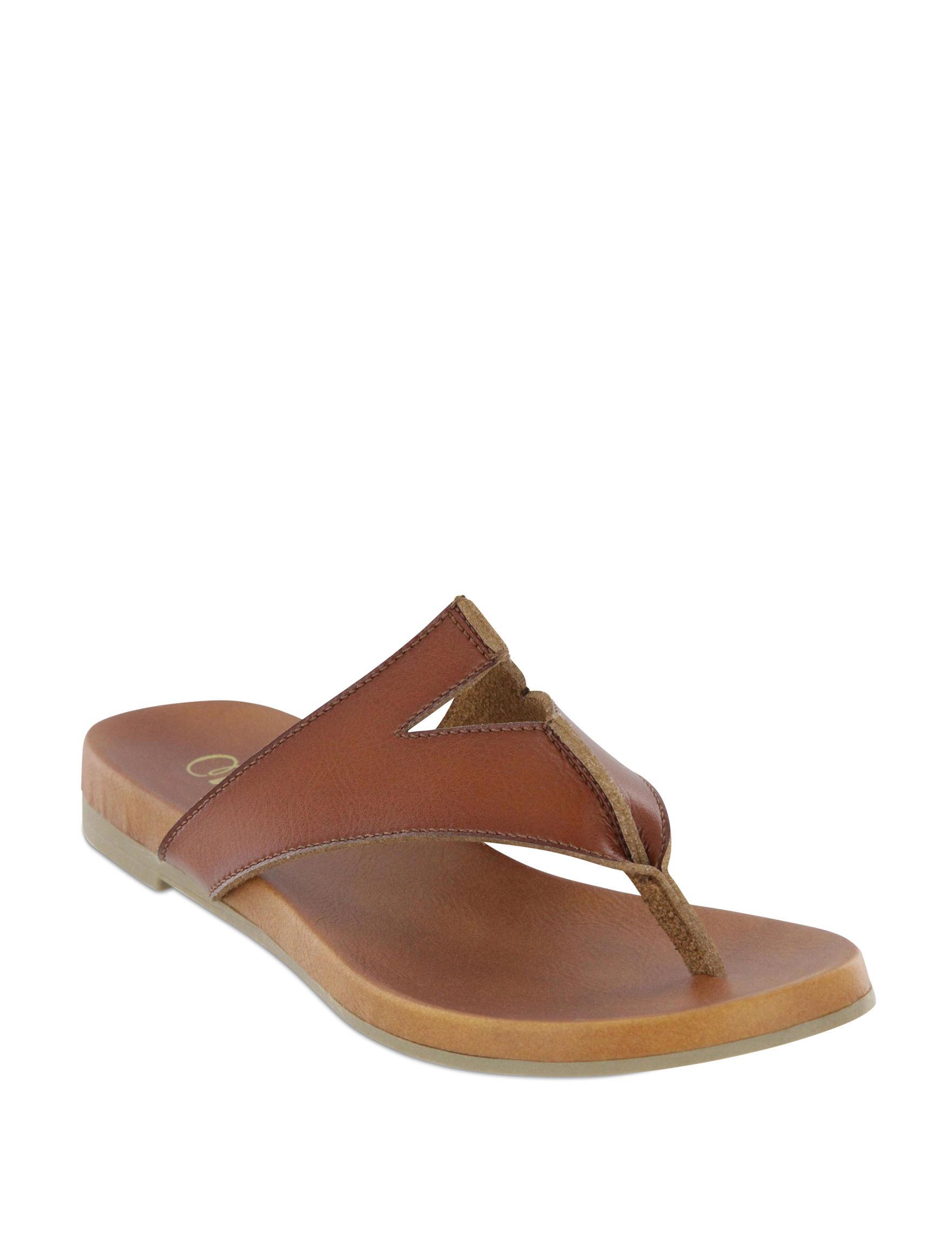MIA Tan Flat Sandals