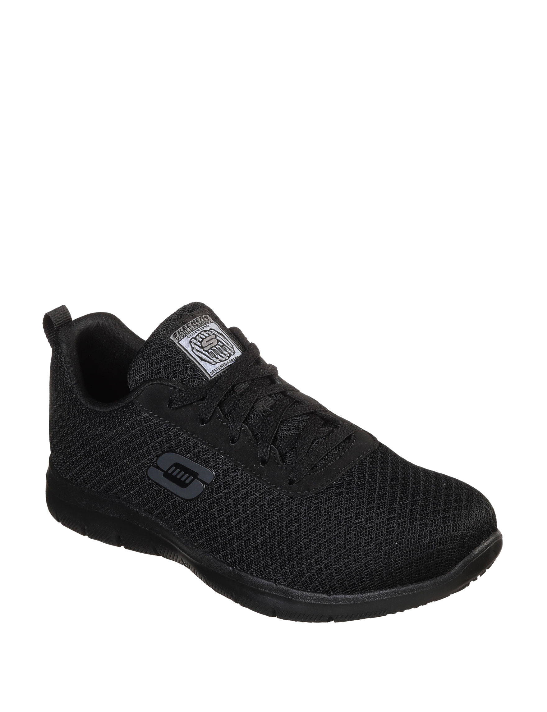Skechers Black Comfort Shoes Slip Resistant