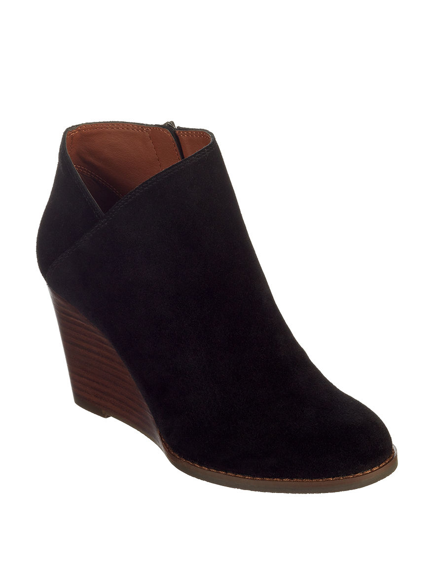 Lucky Brand Black Ankle Boots & Booties
