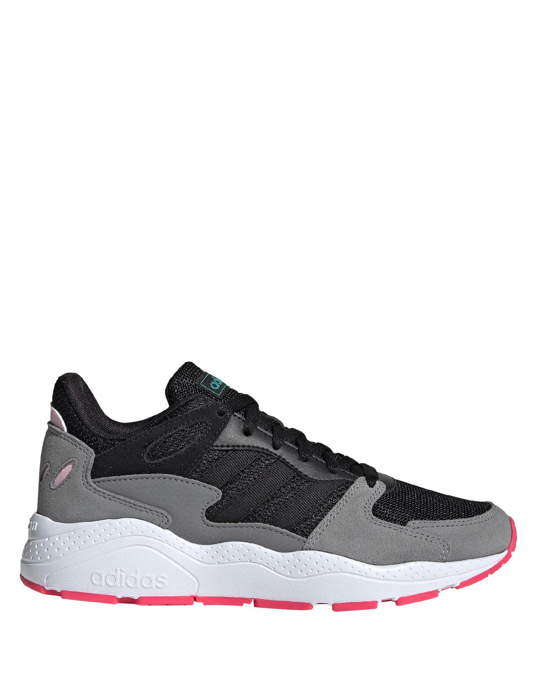 Adidas Black / Grey / White / Pink Comfort Shoes