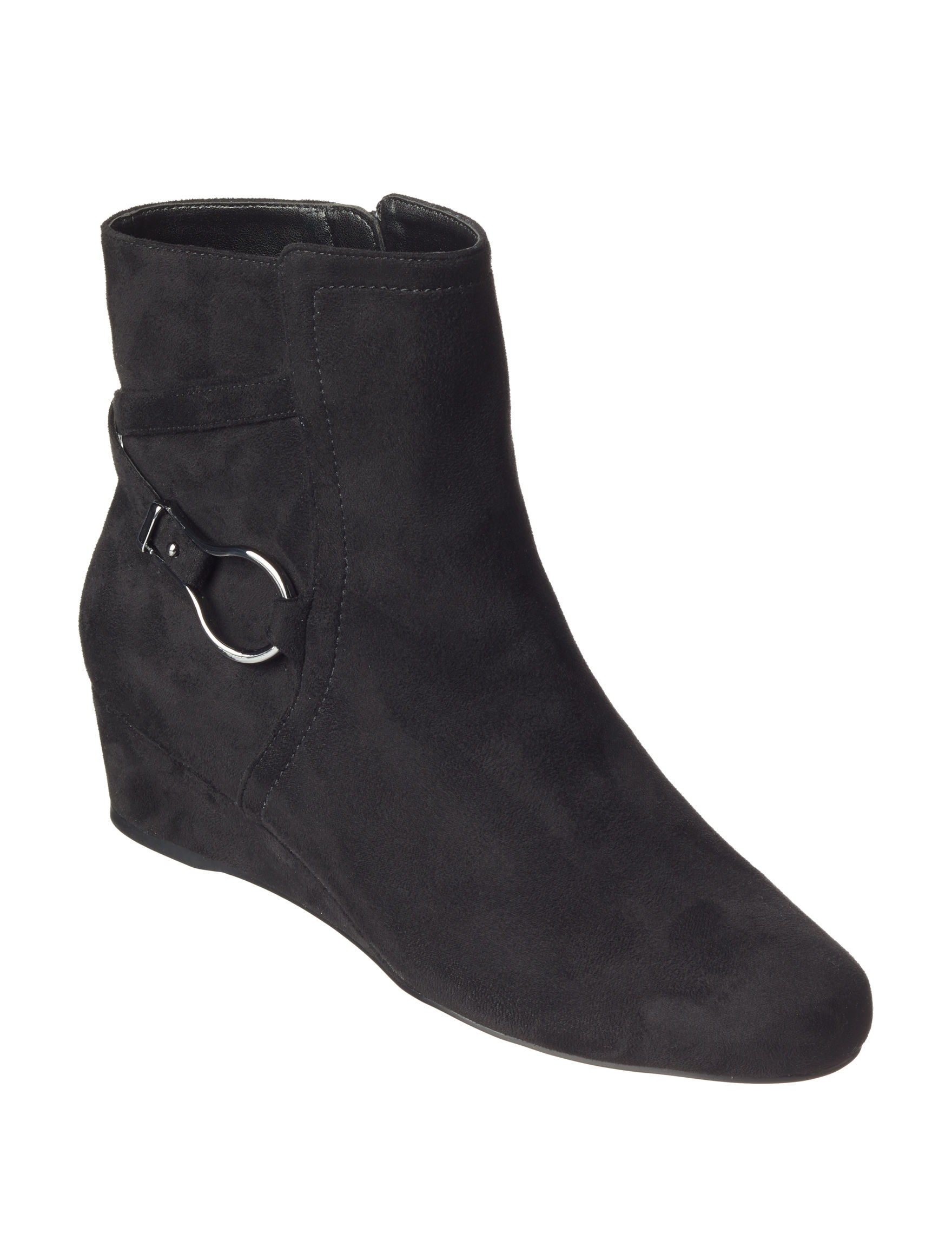 IMPO Black Ankle Boots & Booties Wedge Boots