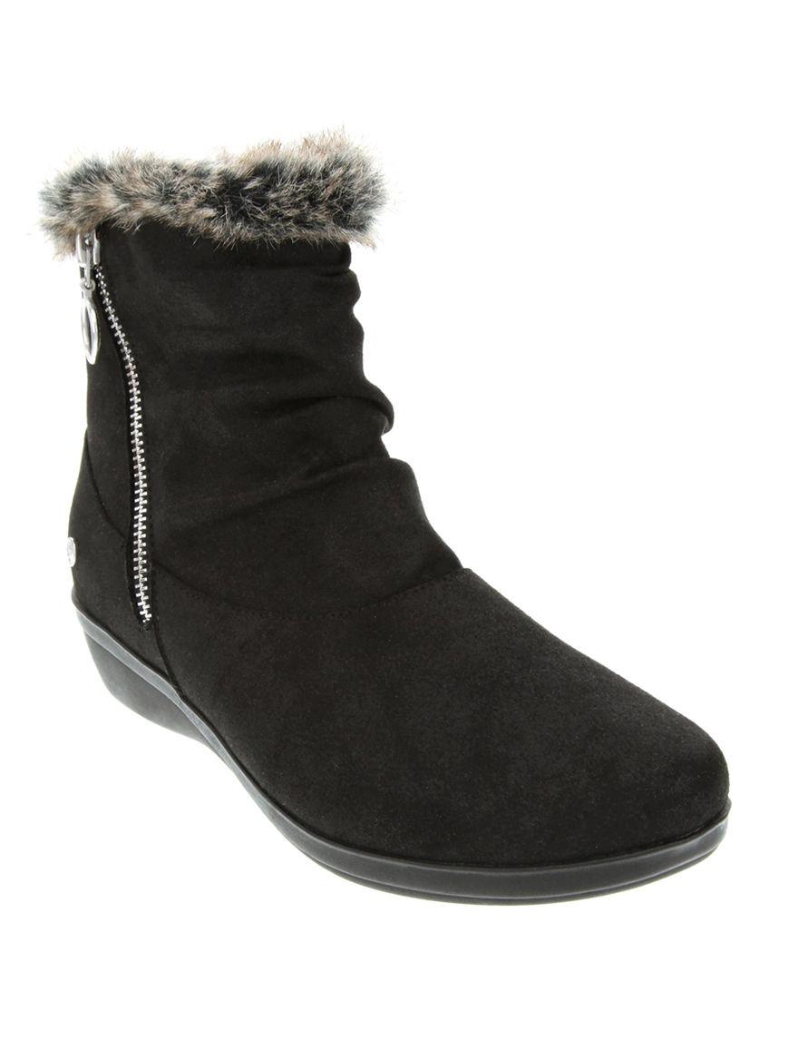 Gloria Vanderbilt Black Winter Boots