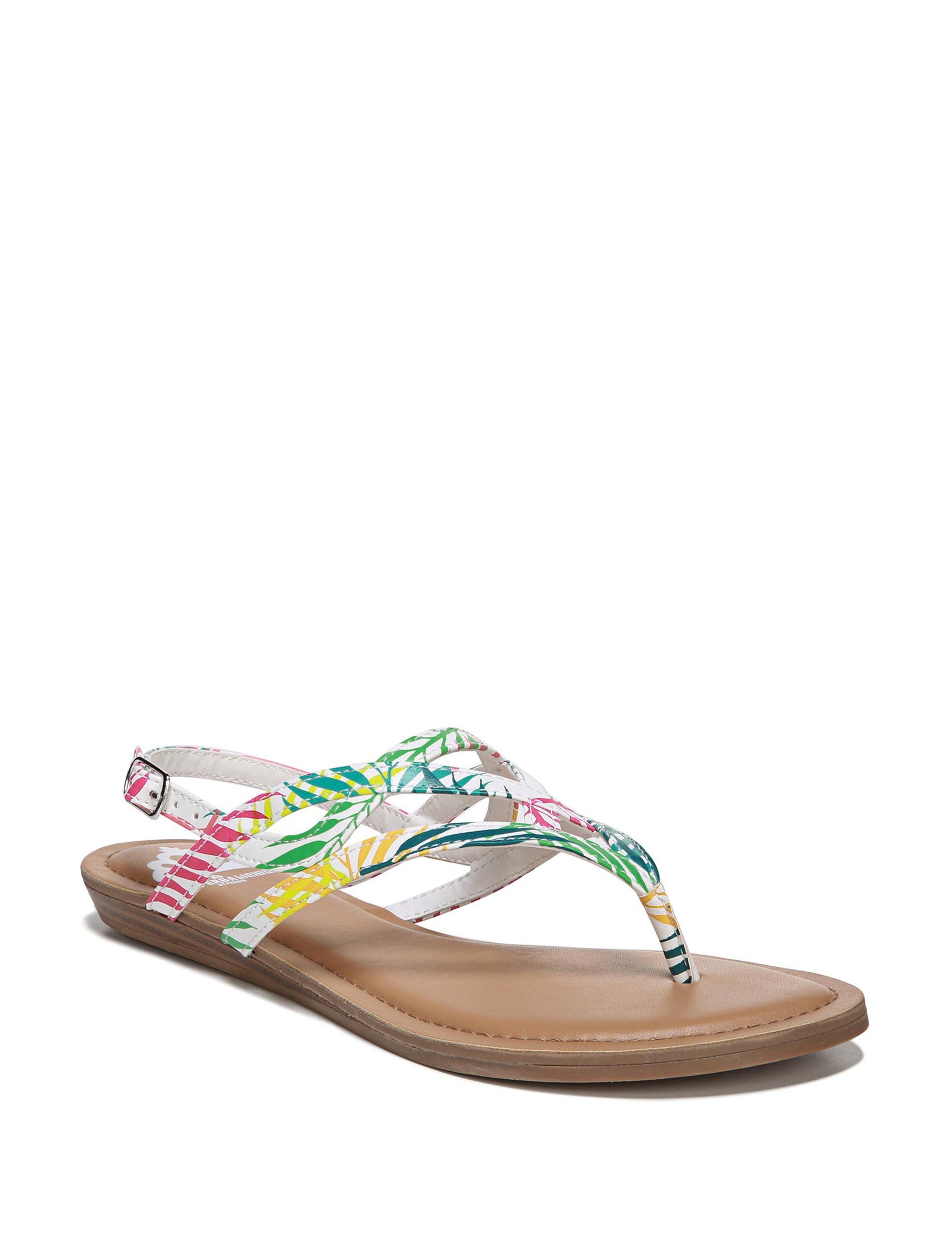 Fergalicious by Fergie White Multi Flat Sandals