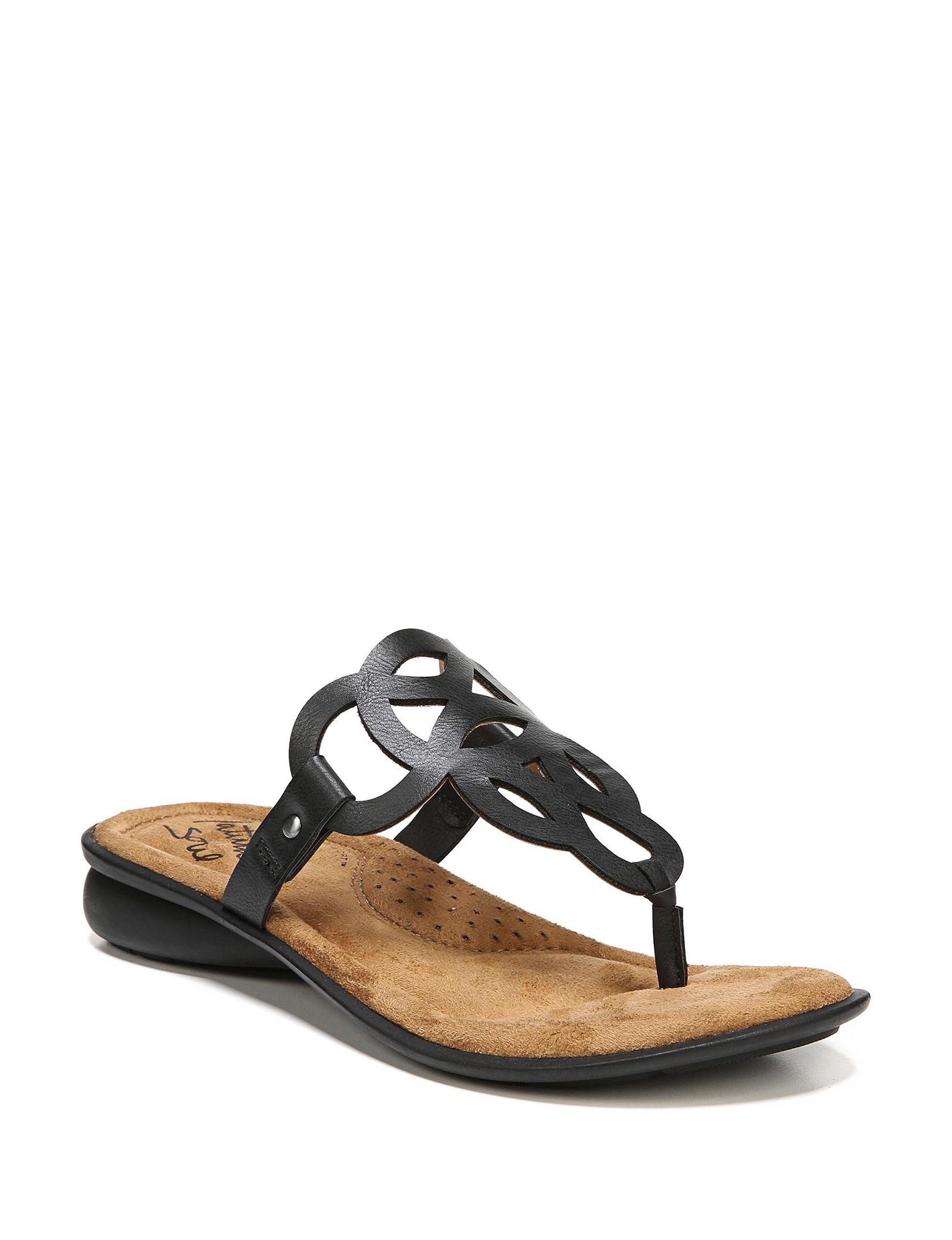 Soul Naturalizer Black Flat Sandals