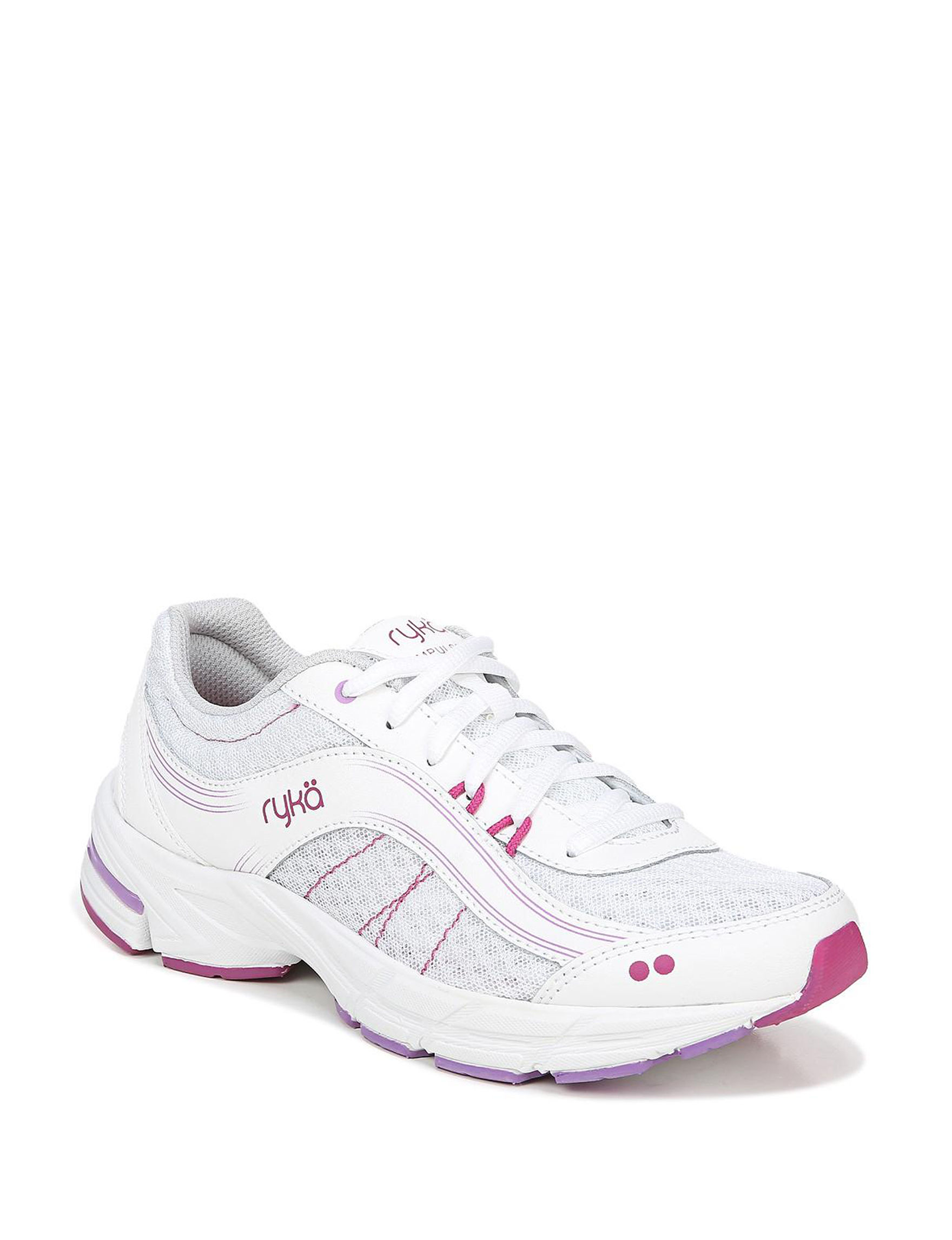 Ryka White / Pink Comfort Shoes