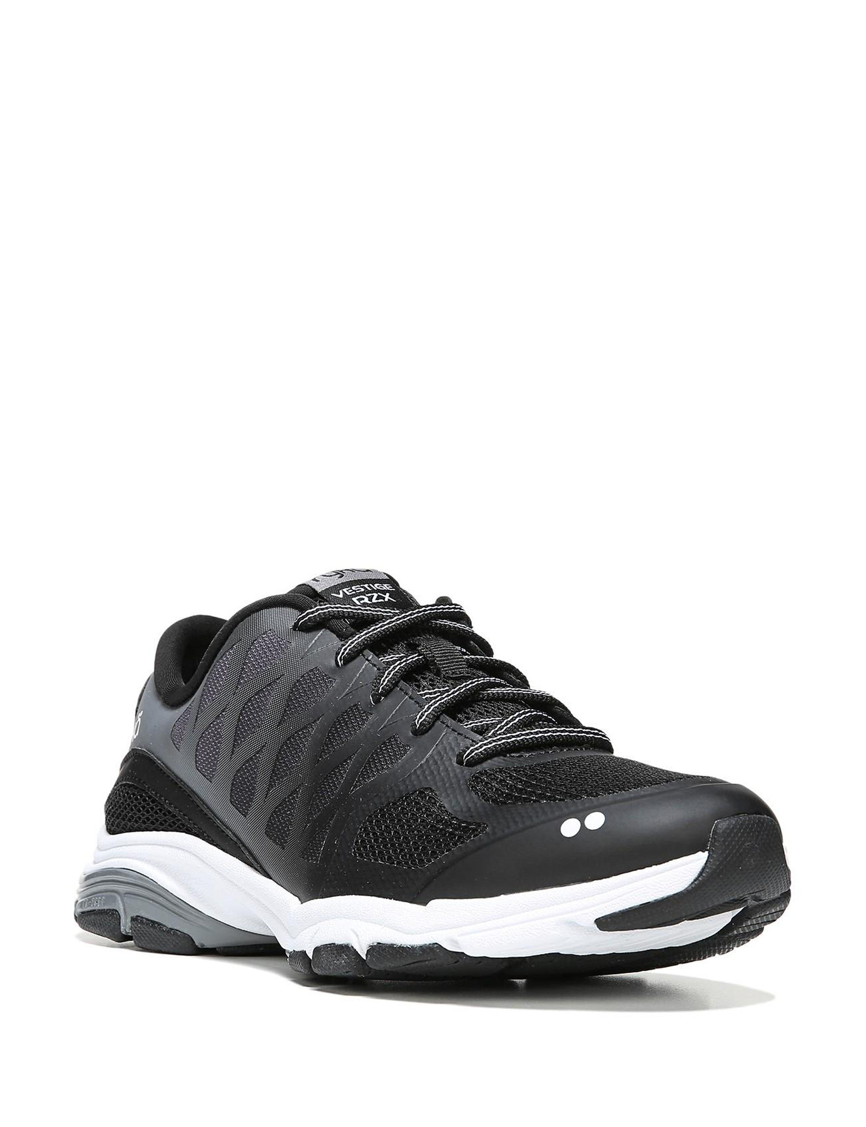 Ryka Black / White / Grey Comfort Shoes