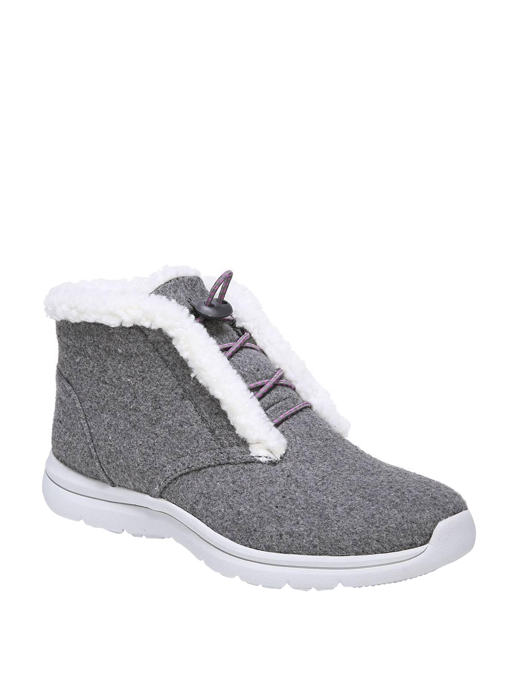 Ryka Grey Ankle Boots & Booties Comfort Shoes Winter Boots