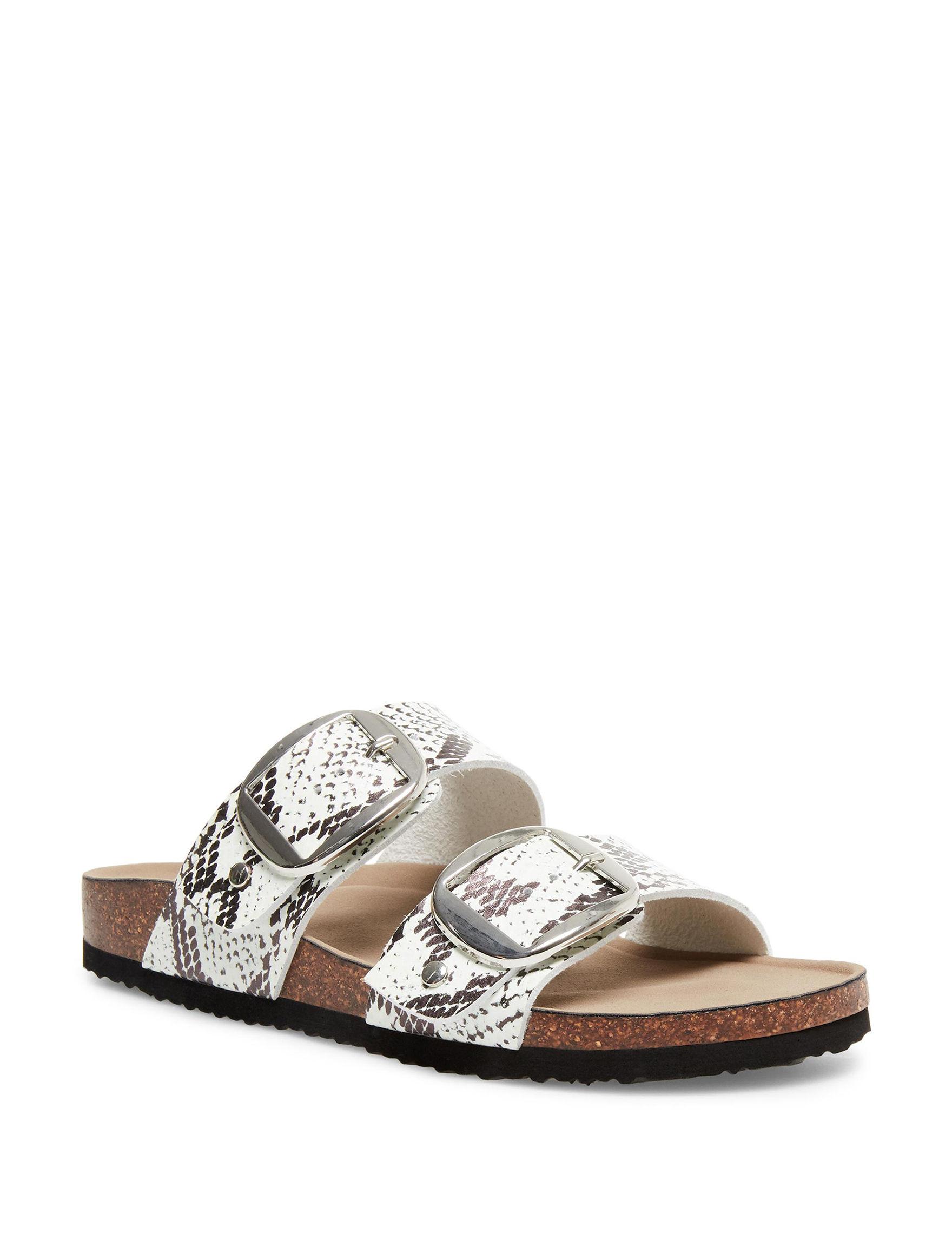 Madden Girl Snake Flat Sandals Footbed