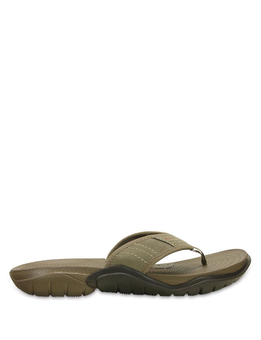 Crocs Brown Flip Flops