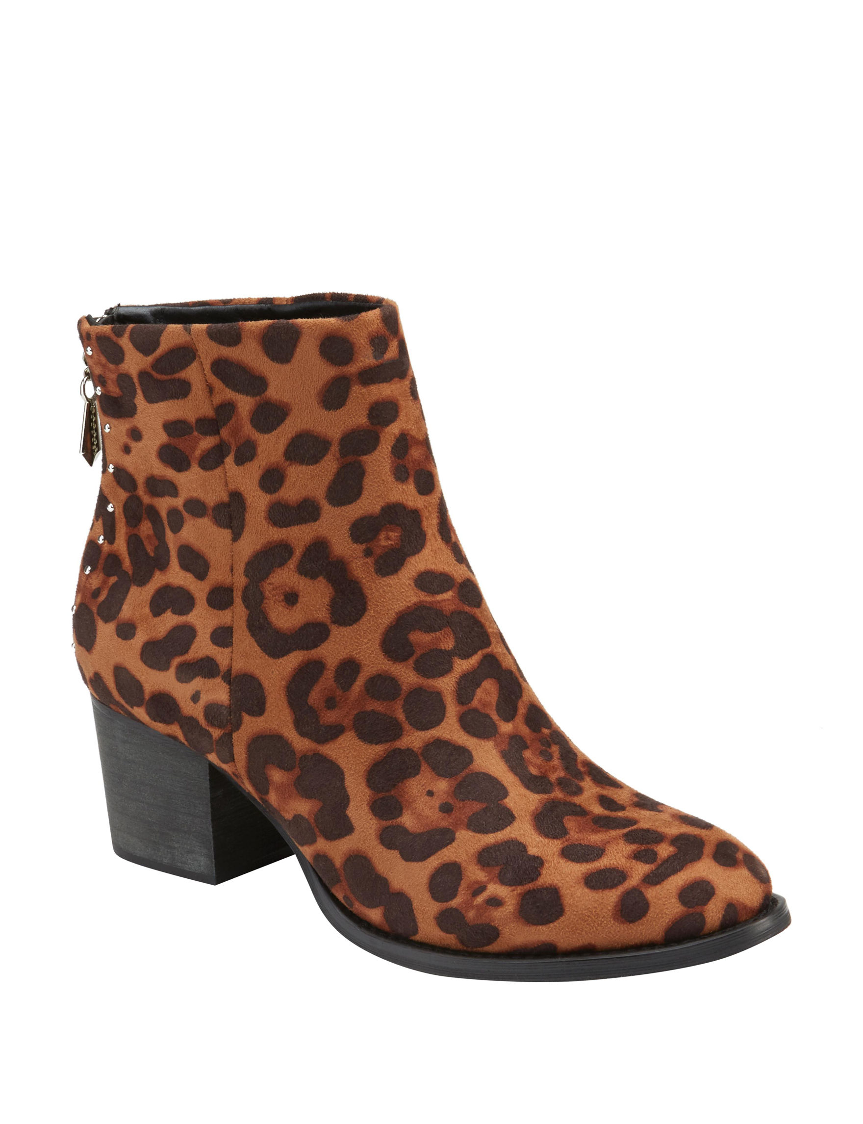 Olivia Miller Leopard Ankle Boots & Booties