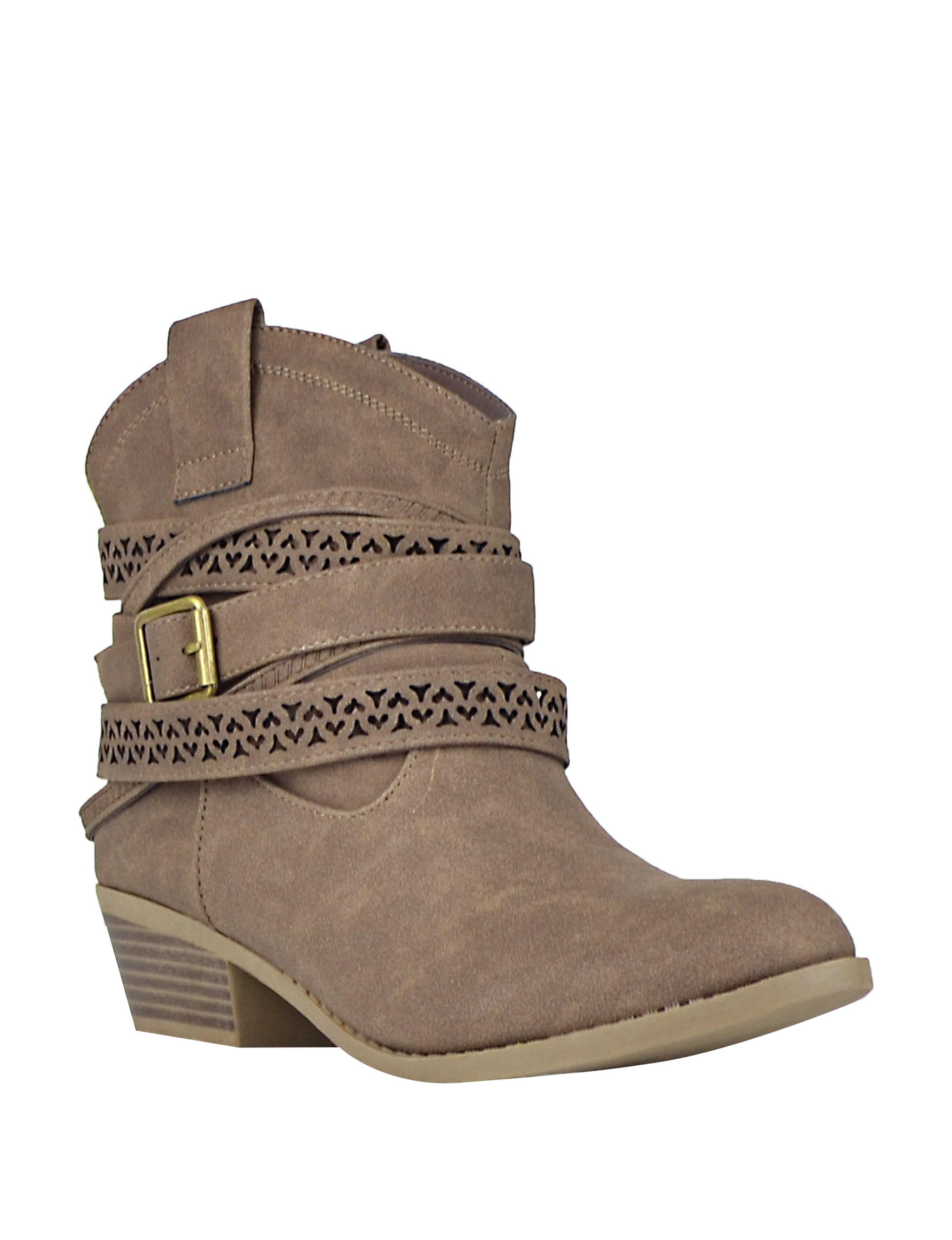 Not Rated Taupe Ankle Boots & Booties