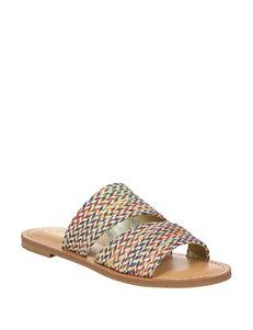 e3ca94a672 Carlos by Carlos Santana Women's Holly Rainbow Woven Slide Sandals
