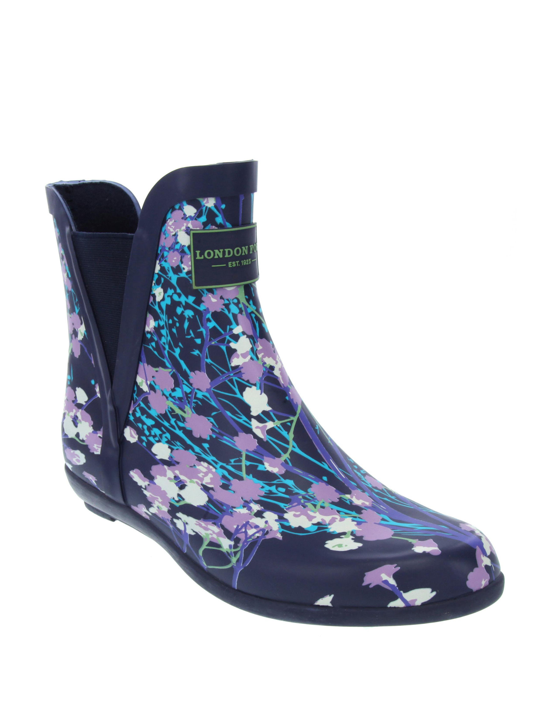 London Fog Navy Ankle Boots & Booties Rain Boots
