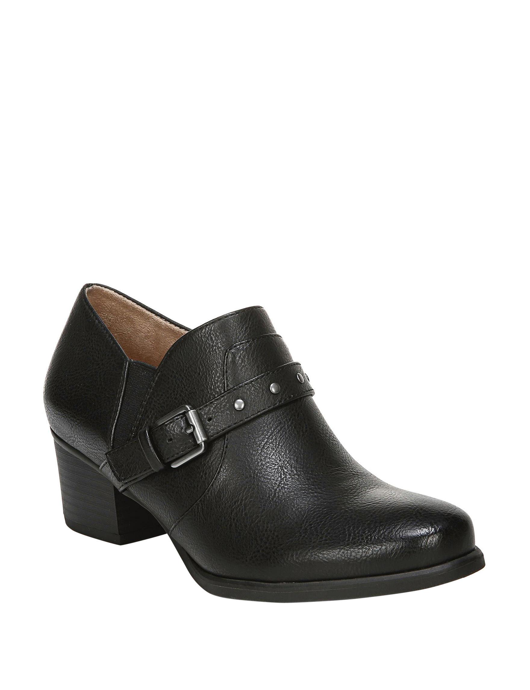 Natural Soul Black Comfort Shoes
