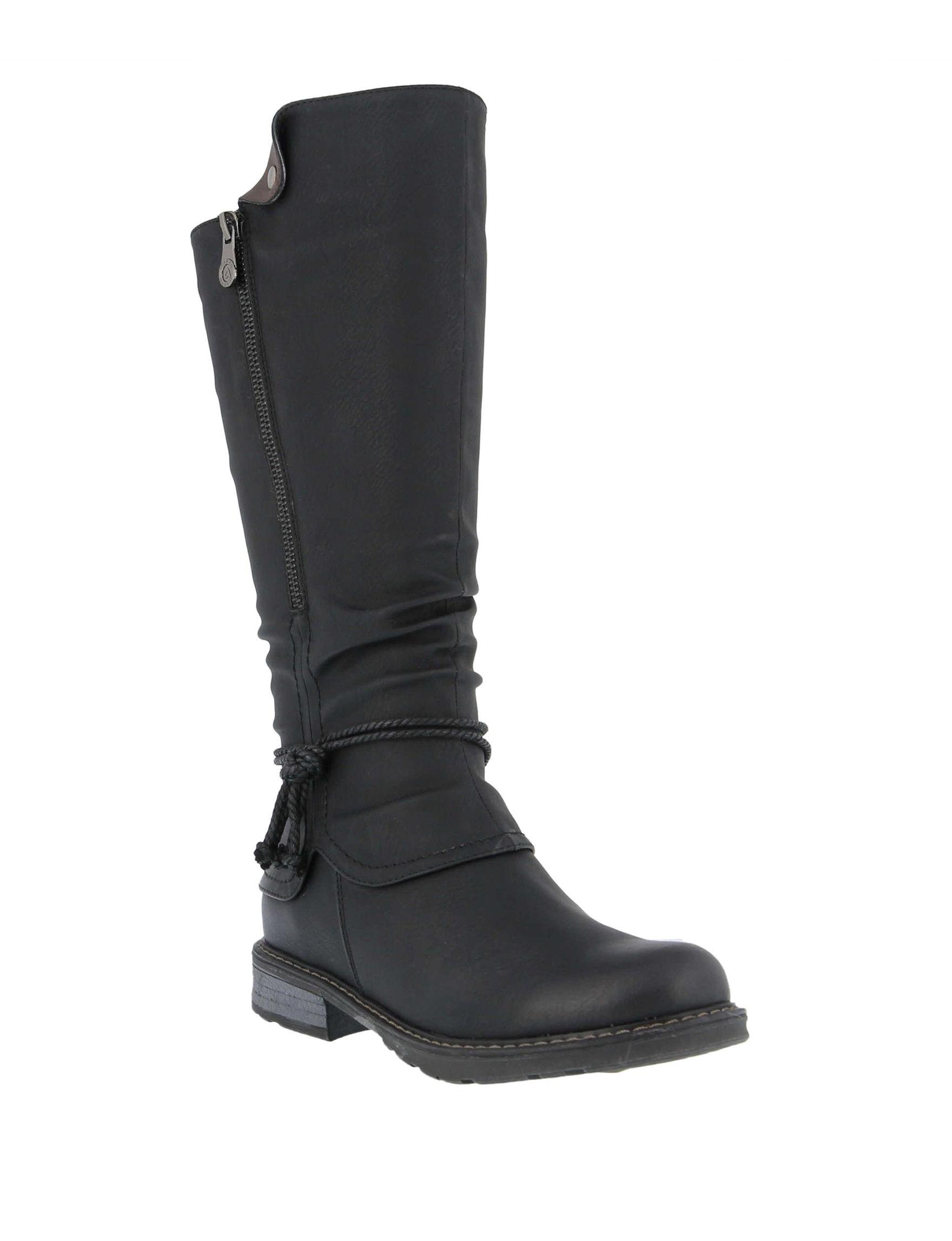 Patrizia Black Riding Boots