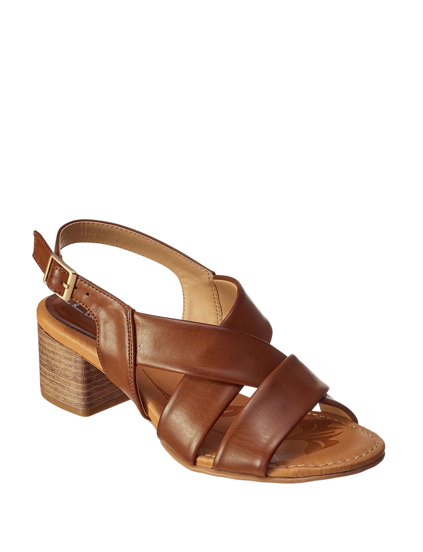 CL by Laundry Brown Heeled Sandals