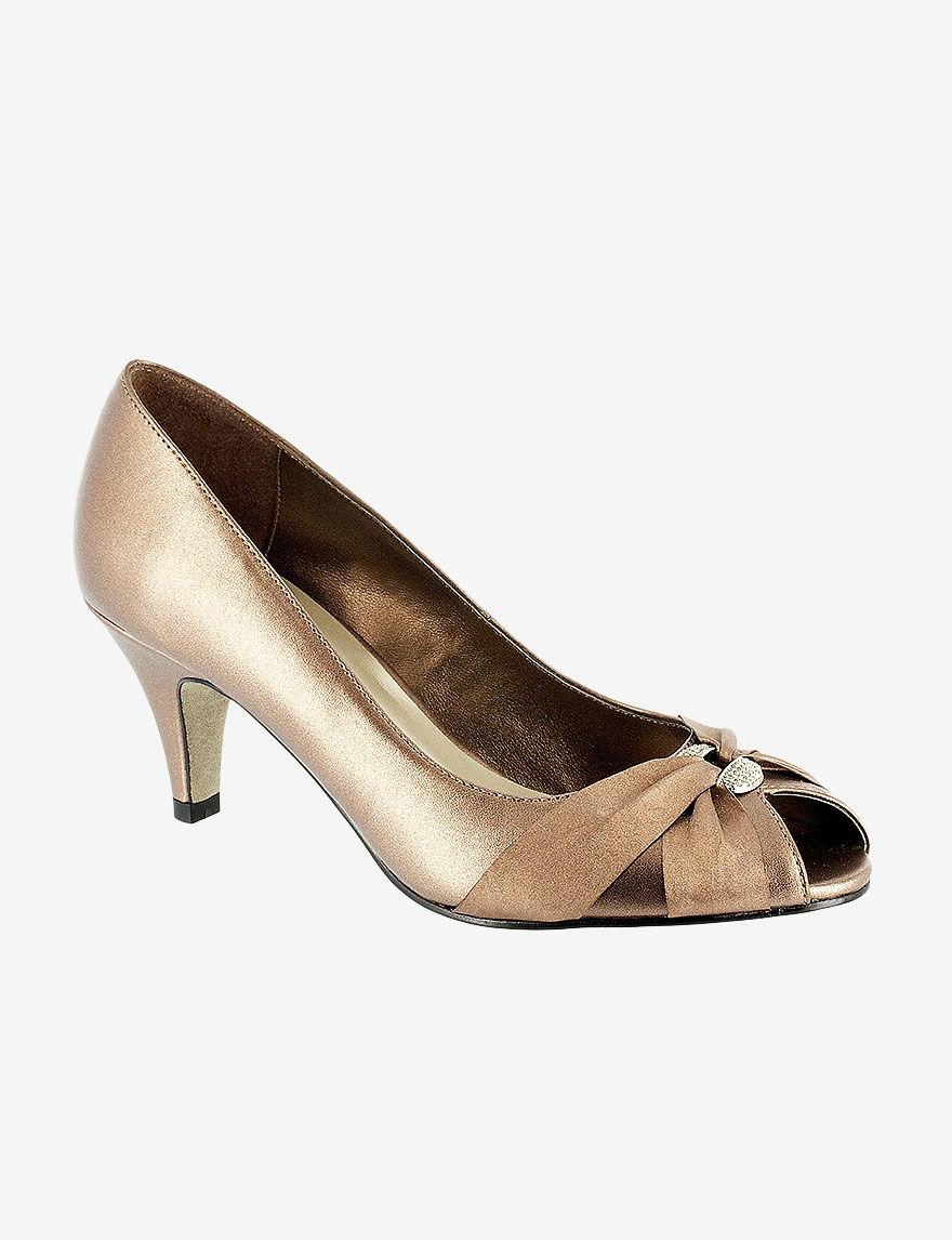 Easy Street Bronze Peep Toe