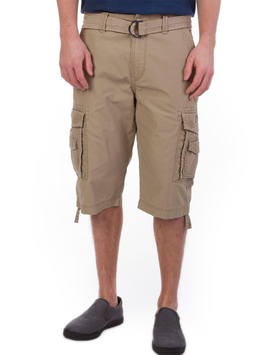 e36bb02384 UPC 759855699364 product image for Union Bay Cordova Messenger Belted Shorts  - Young Men's - Tan ...