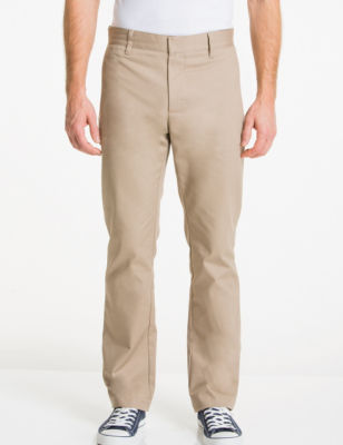 Young Mens Slim Straight Leg Pant Beige 33 X 30 Lee