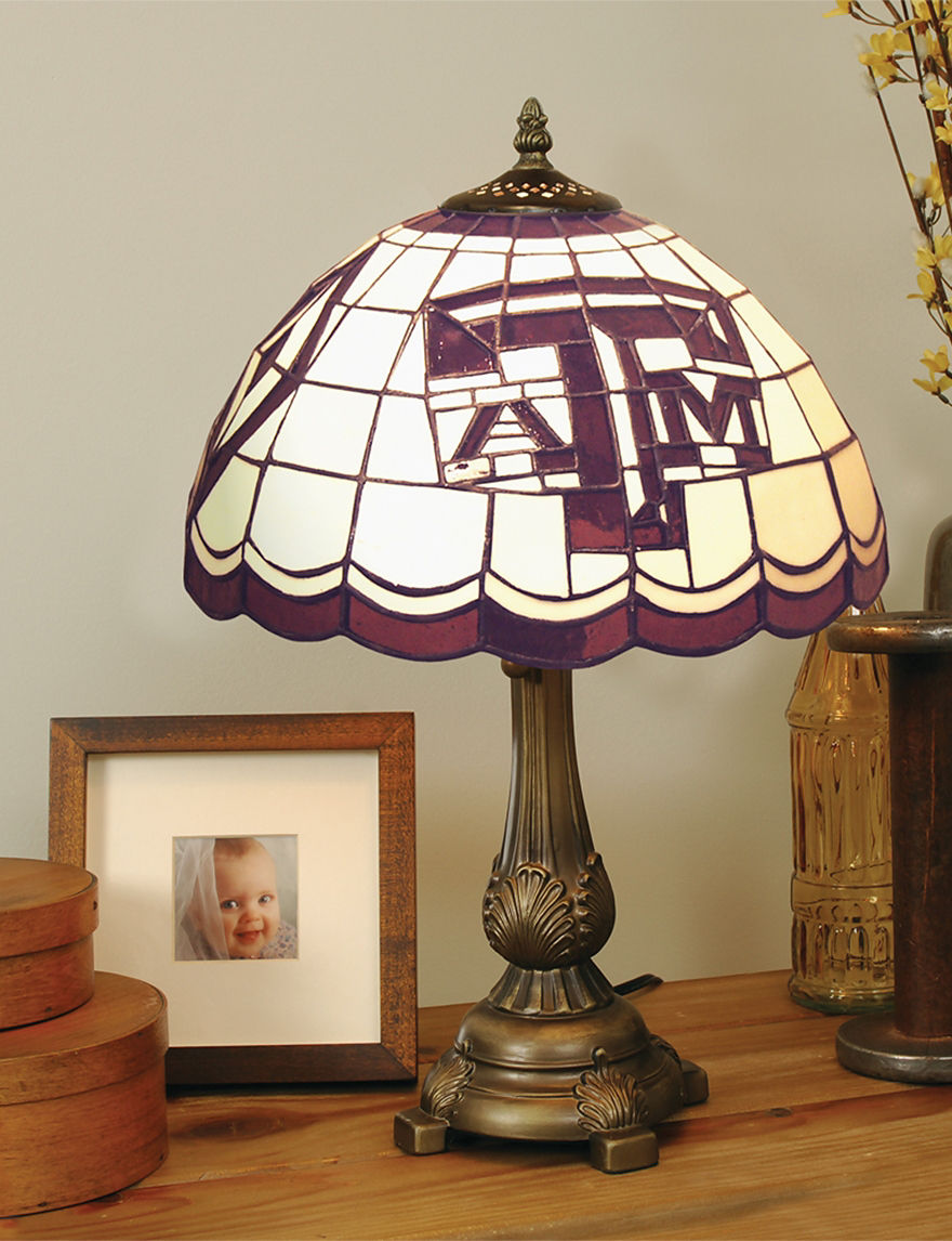 NCAA Garnet Table Lamps Lighting & Lamps