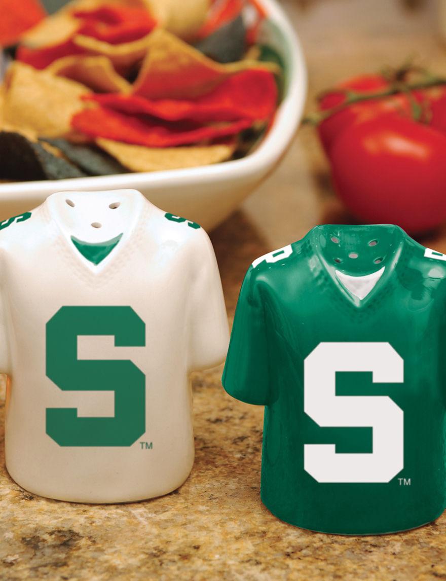 NCAA Green Salt & Pepper Shakers