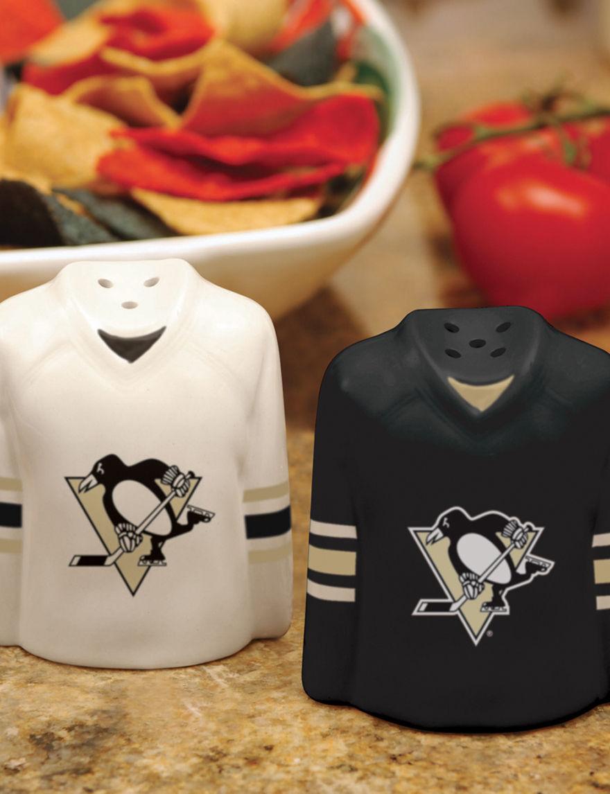 NHL Black Salt & Pepper Shakers Serveware